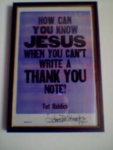 Tut Riddick quote